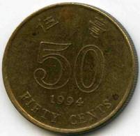 Hong Kong 50 Cents 1994 KM 68 - Hong Kong