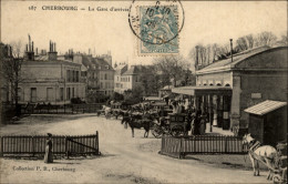 50 - CHERBOURG - GARE - ATTELAGE CHEVAUX - Cherbourg