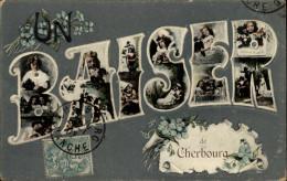 50 - CHERBOURG - UN BAISER DE - CARTE GAUFREE - Cherbourg