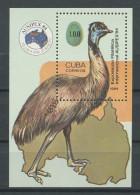 CUBA 1984  Bloc N° 84 **  Neuf = MNH Superbe  Cote 6 € Faune Oiseaux Emeu Ausipex Melbourne Birds Animaux - Neufs