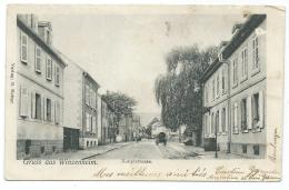 CPA ANIMEE GRUSS AUS WINZENHEIM, HAUPTSTRASSE, WINTZENHEIM, GRAND'RUE, HAUT RHIN 68 - Wintzenheim