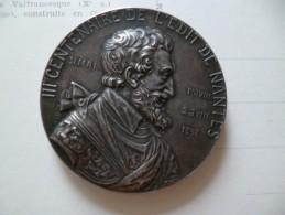 Médaille Argent Prud'homme (G.) : Tricentenaire De L'édit De Nantes, 1898 Paris Henri IV état Sup - France