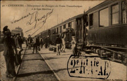 50 - CHERBOURG - GARE - TRAINS TRANSATLANTIQUES - GARE MARITIME - Cherbourg