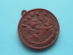 ?? ZEGEL ?? Te Identificeren / Identificier ( Materiaal ?? Materiaux ) 64 Mm / 34,3 Gram ( Details Zie Foto´s) !! - Tokens & Medals