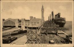 50 - CHERBOURG - PAQUEBOT ATLANTIQUE - GARE MARITIME - Cherbourg