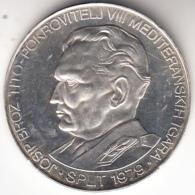 YUGOSLAVIA 1979 .VIII JUEGOS DELMEDITERRANEO EN SPLIT .350 DINARA PLATA. SIN CIRCULAR CN4256BIS - Yugoslavia