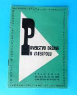 YUGOSLAVIA WATER POLO CHAMPIONSHIP 1954. Rijeka Croatia - Offic. Old Programme Waterpolo Wasserball Pallanuoto Programm - Sports