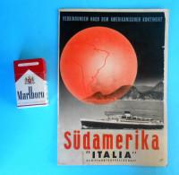 ITALIAN LINE Brochure 1930's S. America OCEANIA NEPTUNIA AUGUSTUS CONTE GRANDE PRINCIPESSA MARIA & GIOVANNA Italy Italia - Boats