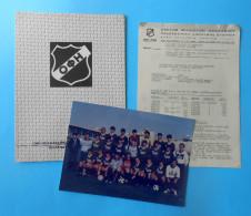 OFI Crete FC - Greece Football Soccer Club ... Vintage Lot ... Folder & Large Photo & Documents * Fussball Calcio Grece - Habillement, Souvenirs & Autres