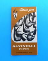 SAVINELLI PIPES - Beautifull Vintage Catalogue * Pipe Autograph Giubileo D'oro Punto Oro ... Rohr Tubo Pipa Pipe RRR - Unclassified
