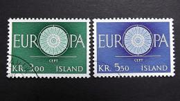 Island 343/4 Oo/used, EUROPA/CEPT 1960 - 1944-... Republik