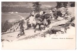 Chamonix - Route De Montanvert - édit. J.J. Jullien Frères 2216 + Verso - Chamonix-Mont-Blanc