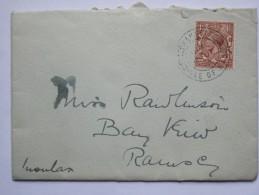 GB GEORGE V COVER RAMSEY ISLE OF MAN POSTMARK - Briefe U. Dokumente