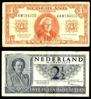 Pays-Bas- 2 Billets - [2] 1815-… : Kingdom Of The Netherlands