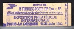 2187 C1 LIBERTE CARNET De 5TP - Avec N° - Carnets