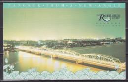 = Carte Postale Bangkok Thaïlande Vue Sur Le Pont Et La Ville, The Royal River Hotel - Tailandia