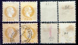 Levante-Austriaco-12 - 1867 - Yvert & Tellier N. A1 + B1 (+/o) LH/Used - Privo Di Difetti Occulti. - Oriente Austriaco