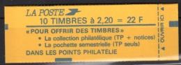 2376 C5c LIBERTE 2.20 ROUGE - 10 TP - Pochette Semest.- 3 Cavaliers (+filet) Au Recto Et 4 Au Verso - Carnets