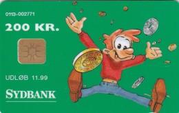Denmark, DD 080e, 200 Kr, Sydbank - Cartoon, Only 1050 Issued, 2 Scans. - Danemark