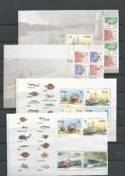 1991 MNH Ireland, Fishing (booklet Panes), Postfris** - 1949-... Repubblica D'Irlanda