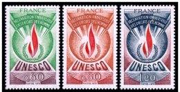LOTE 784  ///  UNESCO   YVERT Nº:  13/15 **MNH - Neufs