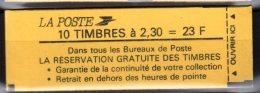 2614 C4 BRIAT CARNET De 10 TP à 2.30-  - CONF. 9 -  SCHWEPPES Au Verso - Booklets