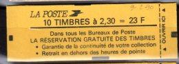 2614 C4 BRIAT CARNET De 10 TP à 2.30-  - CONF. 9 -  SCHWEPPES Au Verso - Daté 9.2.90 - Uso Corrente