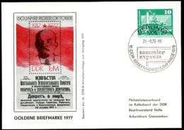 DDR PP16 C1/005c Privat-Postkarte LENIN Berlin Sost. 1977 - [6] République Démocratique