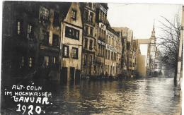 Alt - Coln. Im Hochwasser, Ganuar 1920.. Unused Card, RP - Non Classés
