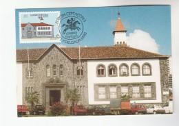1990 PORTUGAL AZORES FDC Maximum Card EUROPA  VASCO DE GAMA BUILDING Stamps Cover - Maximum Cards & Covers