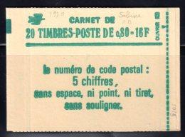 1970 C1 SABINE0.80F. VERT - CARNET De 20TP - CONF. 6 - Carnets