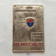 Medal / Plaque (Plakette) PL000050 - XVIII Internationale Polizei Sternfahrt Germany (Deutschland) Remscheid 1963 - Transportation