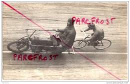 COURSE CYCLISTE VELODROME Coureur (Paul NETTELBECK ?) Moto (Max BAUER ?) Photo Castrick - Jette Saint-Pierre - Ciclismo