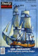 HMS ENDEAVOUR James Cook's Ship - Paper / Card Model Scale 1/100   By Maly Modelarz - Paper Models / Lasercut