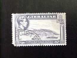 GIBRALTAR  1938 - 47 VUE DE GIBRALTAR George VI Yvert Nº 104 º FU - Gibraltar