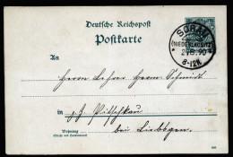 A4137) DR Karte Mit Stempel KOS Sorau 2.8.1890 - Deutschland