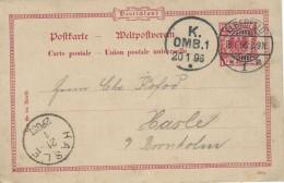 Germany - Stamped Stationery. Elberfeld To Hasle Denmark. 1896.  S-2869 - Entiers Postaux