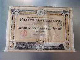 FORESTIERE FRANCO AUSTRALIENNE (100 Francs) 1920 - Zonder Classificatie