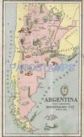 55502 ARGENTINA MAP MAPA POSTAL POSTCARD - Argentine