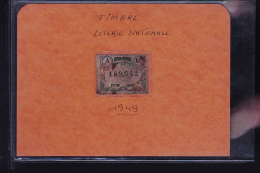 TIMBRE DE LA LOTERIE NATIONALE 1949 - Altri