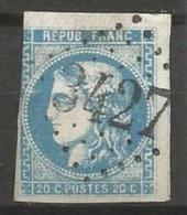 France - Obl. GC3427 SOLRE-LE-CHATEAU Sur Timbre Napoleon III Et/ou Cérès - N°46B - Marcofilie (losse Zegels)