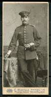 "CPA Plattenphoto German Empires ,DR C Hirtes Hanau 1.WK""Plattenfoto Soldaten Mit Zigarette.""1 Mini Photokarte - Genealogie"