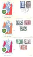 Expo 58 - Belgique - 6 FDC - Participation Des Nations-Unies - Série Complète Avec Poste Aérienne