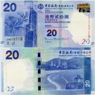 HONG KONG - BoC     20 Dollars     P-341d        1.1.2014         UNC - Hong Kong