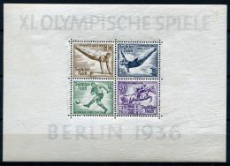 32948) DEUTSCHES REICH Block 5 Z (dickes Papier) Gefalzt Aus 1936, 100.- € - Deutschland