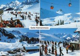 Geils-Hahnenmoos Bei Adelboden Postauto Car Postal Autobus Saurer Ski Luftseilbahn - BE Berne