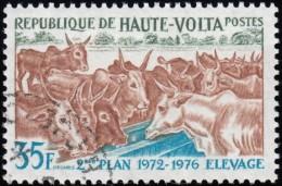 BURKINA FASO (Haute Volta) - Scott #278 The 2nd National Development Plan / Used Stamp - Upper Volta (1958-1984)