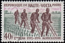 BURKINA FASO (Haute Volta) - Scott #279 The 2nd National Development Plan / Used Stamp - Upper Volta (1958-1984)