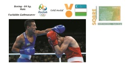 Spain 2016 - Olympic Games Rio 2016 - Gold Medal - Boxing Male Uzbekistan Cover - Otros