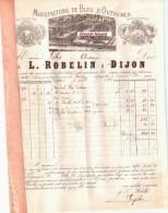 Document Du 07/04/1885 ROBELIN Bleu D'outremer - Dijon 21  - Scans Recto-vero - France